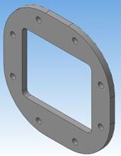 3D электронная модель фланца 30 мм