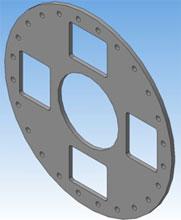 3D электронная модель 30 мм фланец