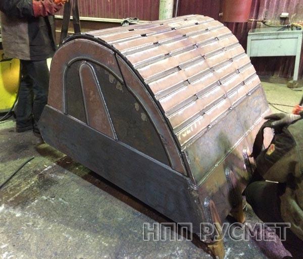 Усиление ковшей экскаваторов с помощью стали Hardox